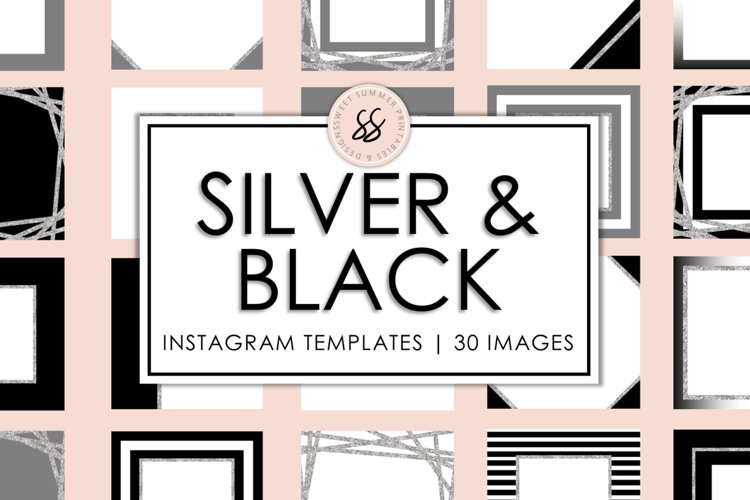 Silver and Black Instagram Templates example image 1