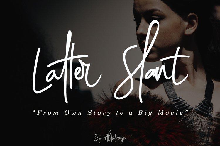 Latter Slant | Signature Font example image 1