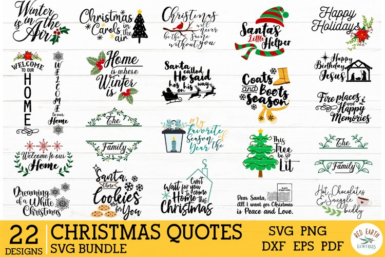 Christmas quotes bundle SVG,Winter holiday sayings decal