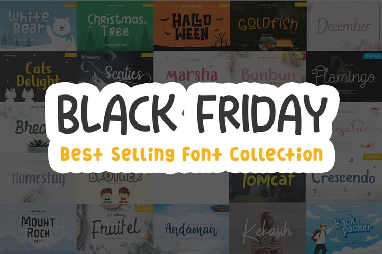 Black Friday Font Collection Super Discount Deal! example image 1