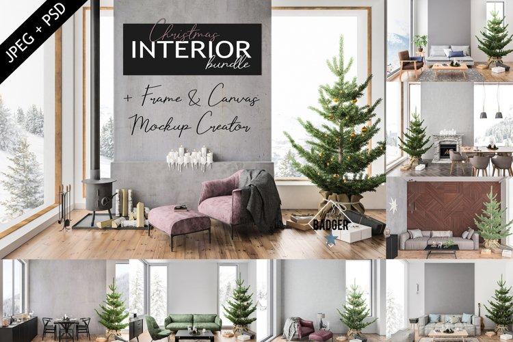 Christmas Interior Bundle - Frame & Canvas Mockup Creator example image 1