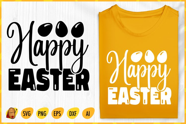 Happy Easter SVG - Easter Hunting SVG E- Easter Cut File example image 1