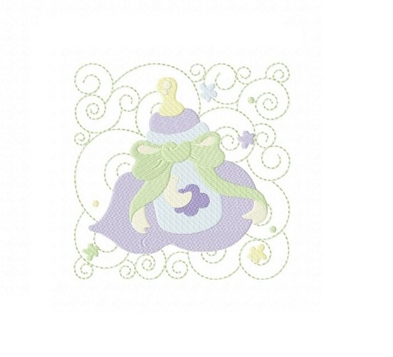 Baby Quilt Block 2 in 3 sizes example image 1