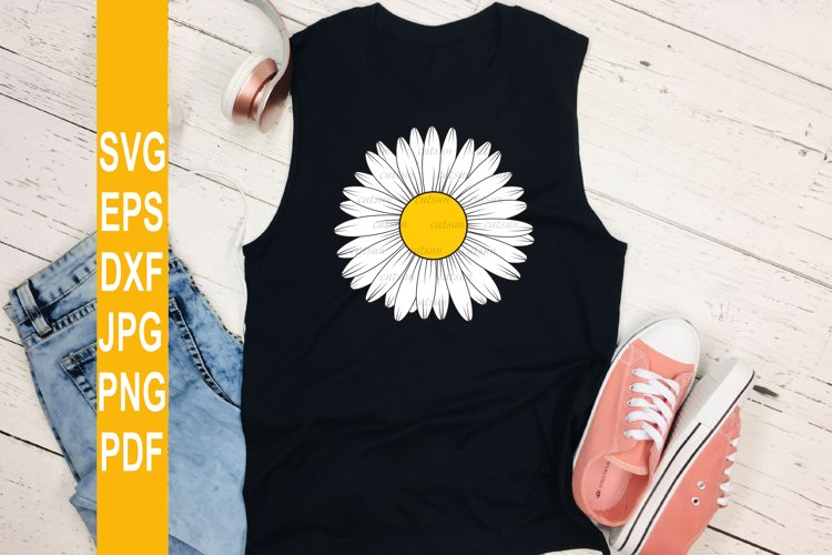 Daisy flower SVG | Flower SVG file for crafters