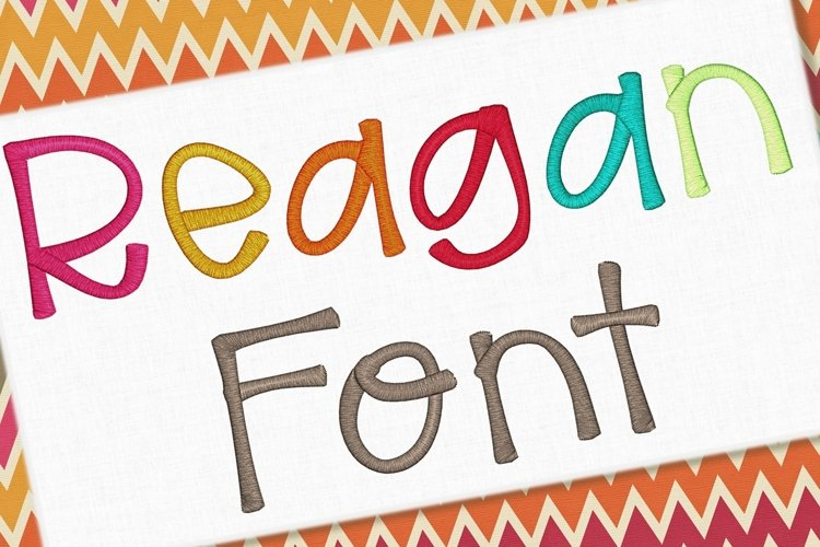 Reagan Embroidery Font 1435 example image 1