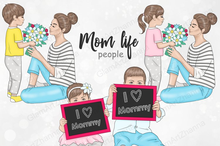 Mother's Day PEOPLE Family Baby Children Mom Holiday - PNG example image 1