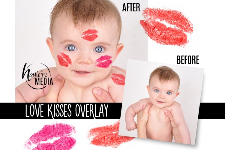PNG Valentine Lipstick Love Kisses Digital Overlay
