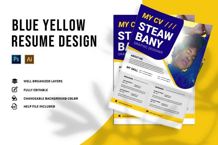 Blue Yellow | CV & Resume example image 1