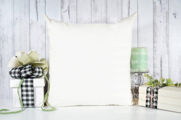 Farmhouse Throw Pillow Cushion with Gift Craft Mockup Photo