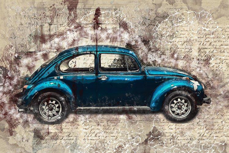 Vintage car printables in 7 different formats 300 dpi #56
