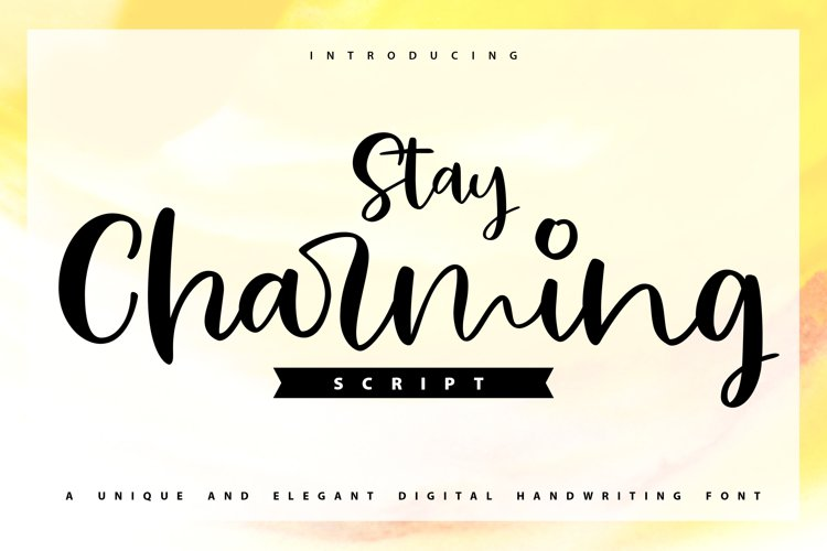 Stay Charming   Script Handwriting Font example image 1