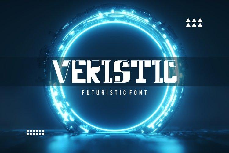 Veristic - Sci Fi Futuristic Font example image 1