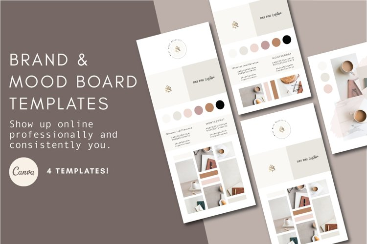 Brand Board Template | Mood Board Template example image 1
