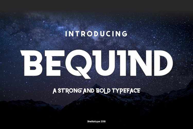 BEQUIND MODERN CLEAN AND BOLD DIDPLAY FONT example image 1