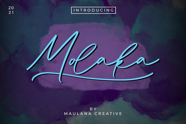 Molaka Modern Script Font example image 1