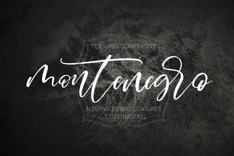 Montenegro textured script font example image 1