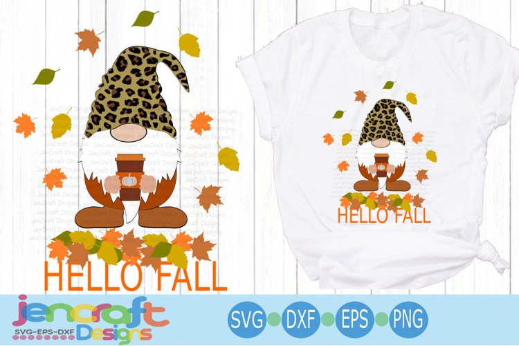 Fall Gnome svg Pumpkin Spice Halloween Thanksgiving svg cut