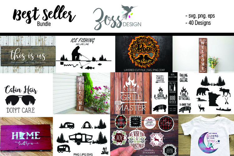 Zoss Design's Best Seller Bundle 30 files and graphic files example image 1