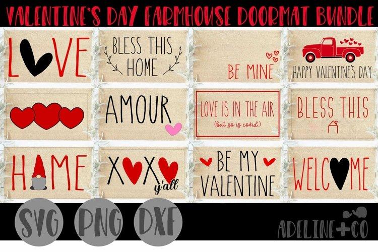 Valentines Day farmhouse doormat bundle