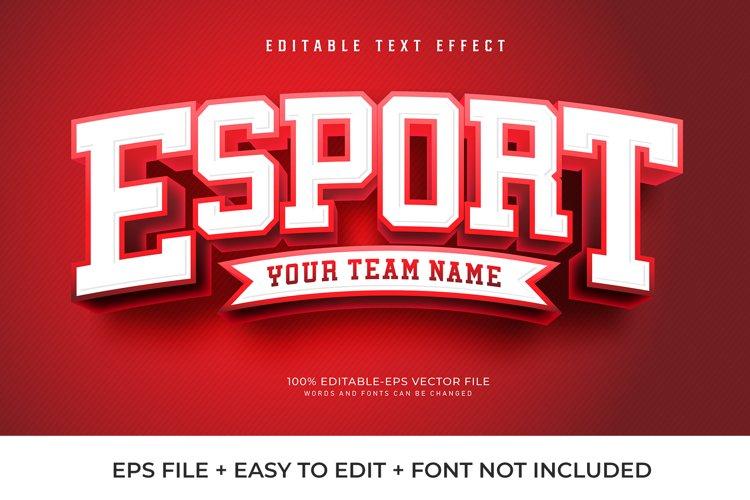Red Esport Vector Text Effect