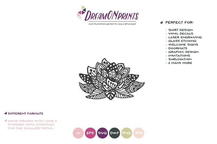 Lotus Zentangle SVG Cut File - Free Design of The Week Design0