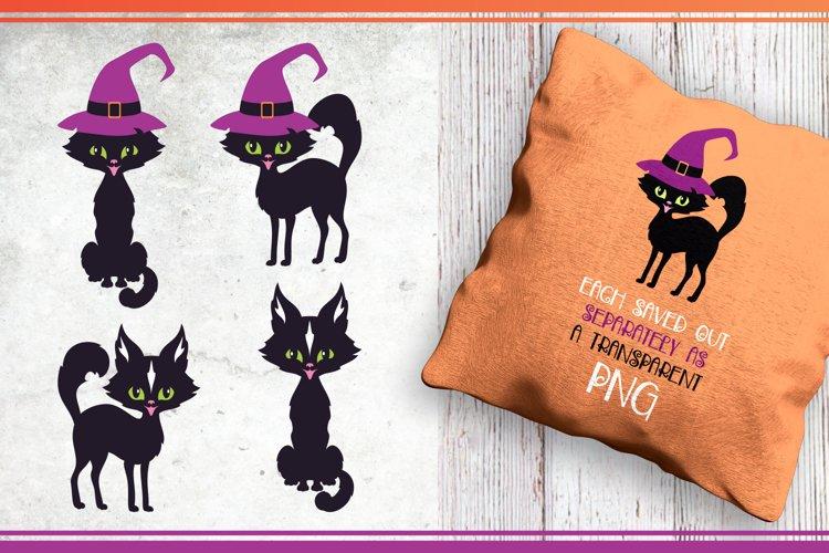 Black cats. Halloween clip art example 2