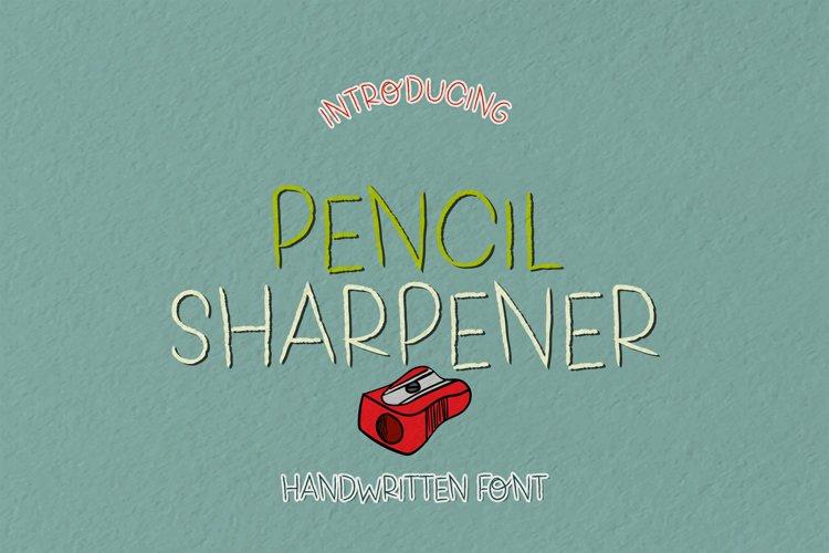 Pencil Sharpener - A Pencillike Handwritten Font example image 1