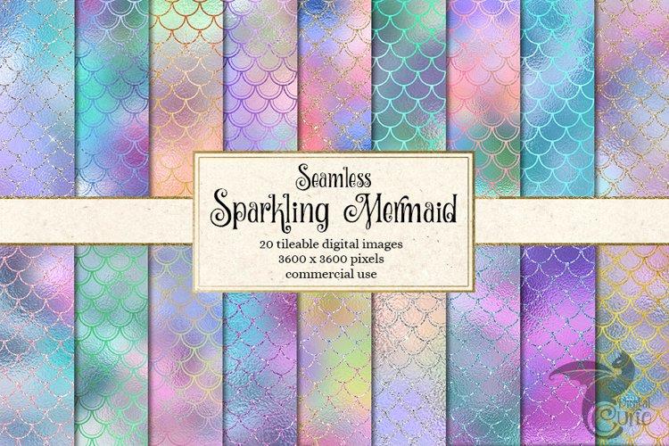 Sparkling Mermaid Digital Paper - Free Design of The Week Font