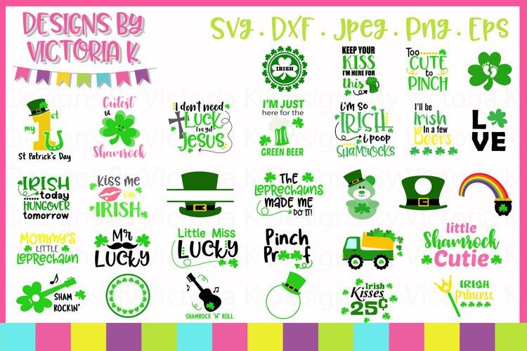 St Patrick's Day svg bundle, 30 Designs, SVG cut files example image 1
