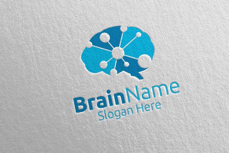 Brain Technology Logo Design 12 example image 1