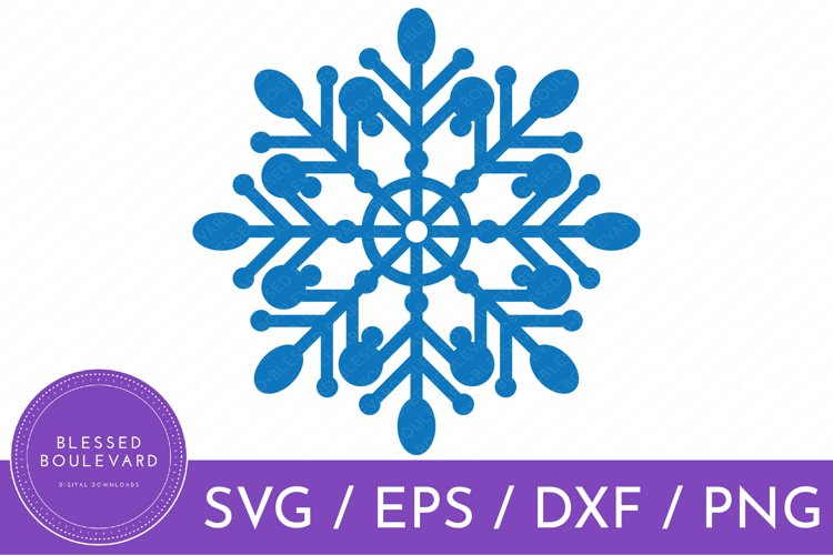 Blue Snowflake SVG File | Winter SVG Design | Christmas SVG