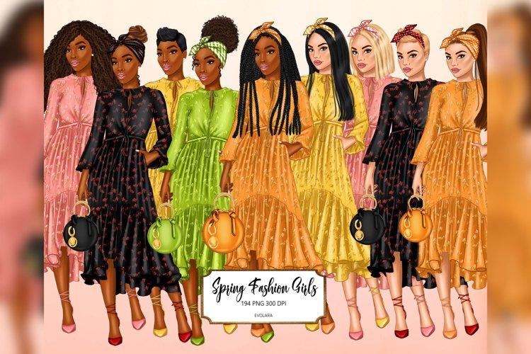 Spring Clipart Girl Boss Clipart Fashion Girls Clipart