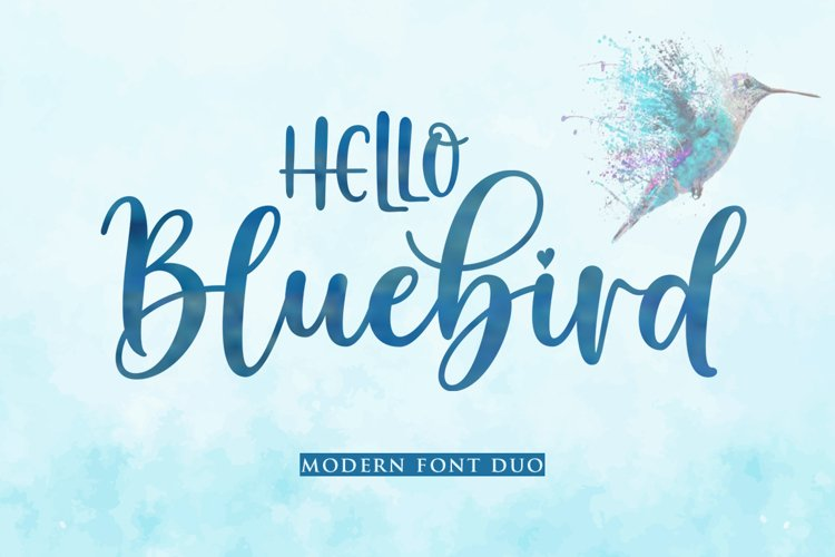Hello Bluebird Font Duo example image 1