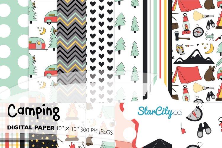 Camping Digital Paper graphics