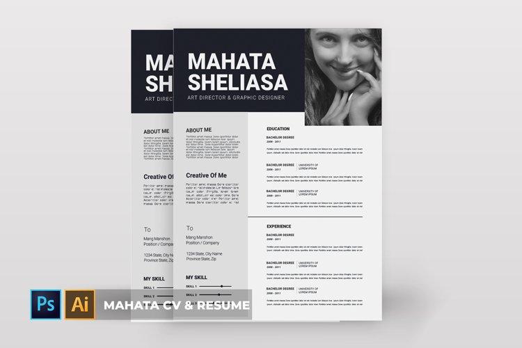 Mahata   CV & Resume example image 1