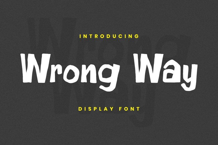 Wrong Way Font example image 1
