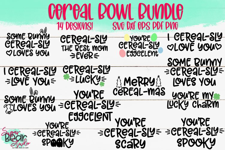 The Cereal Bowl Bundle - Bundle of 14 SVGs