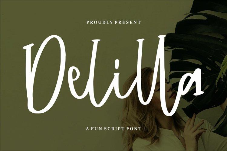Delilla - A Fun Script Font example image 1