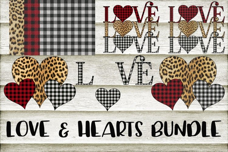 Love & Hearts Design and Clipart Bundle example image 1
