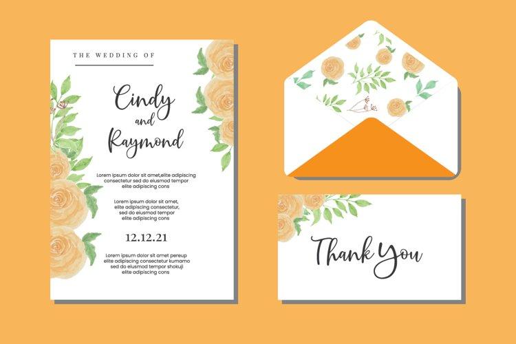 Floral Watercolor Wedding Watercolor Invitations SVG example image 1