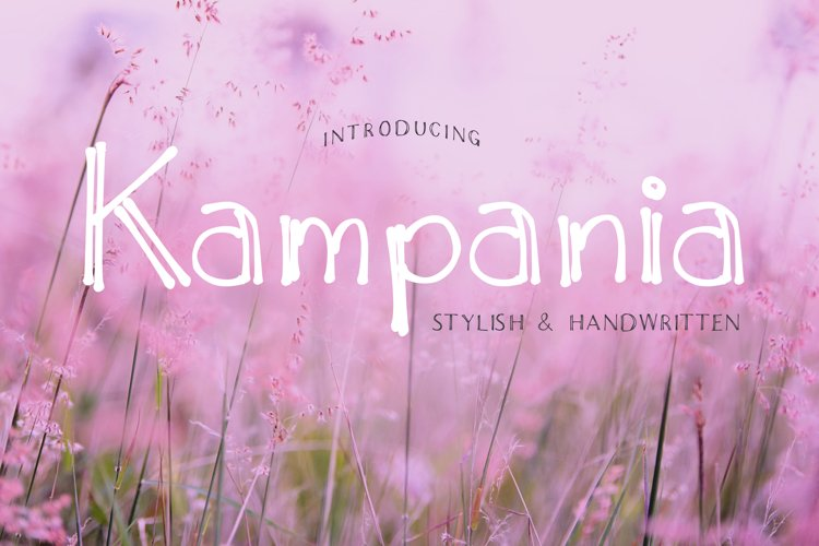 Kampania font example image 1