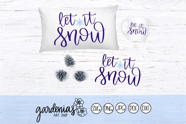 Let it Snow Hand Lettered example image 1