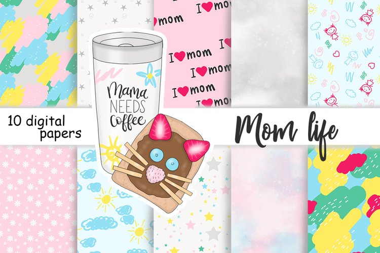 Mother's Day PATTERN Family Baby Children Mom Holiday - JPEG example image 1