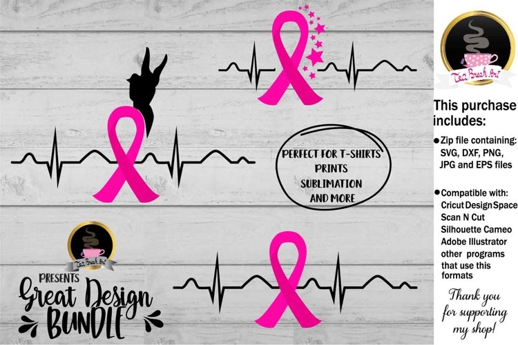 Breast Cancer Ribbon Svg Cutting files 861