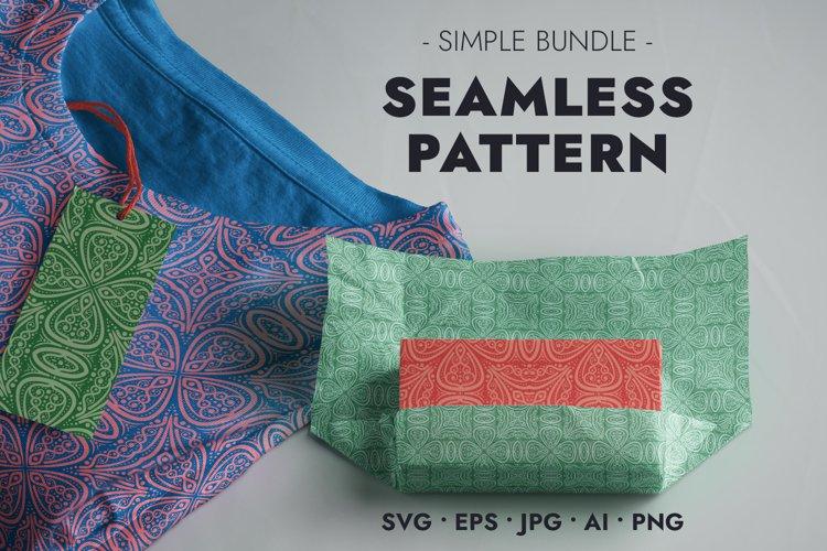 Seamless Pattern - Openwork four-leaf clover - SVG JPG EPS