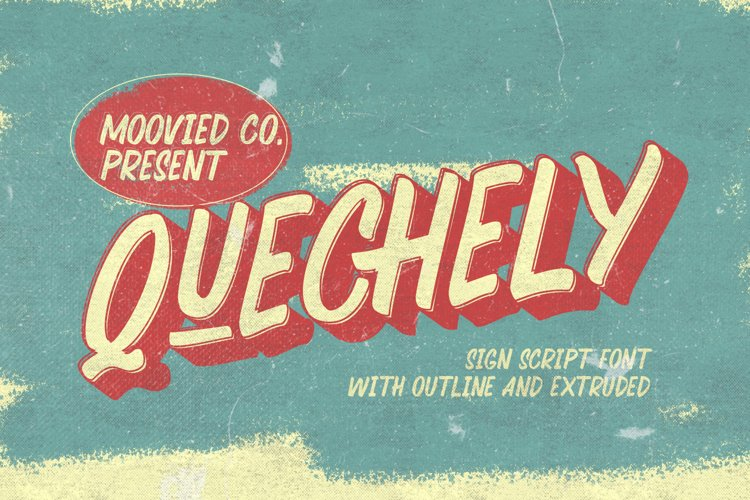 Quechely Sign Retro Layered Font example image 1