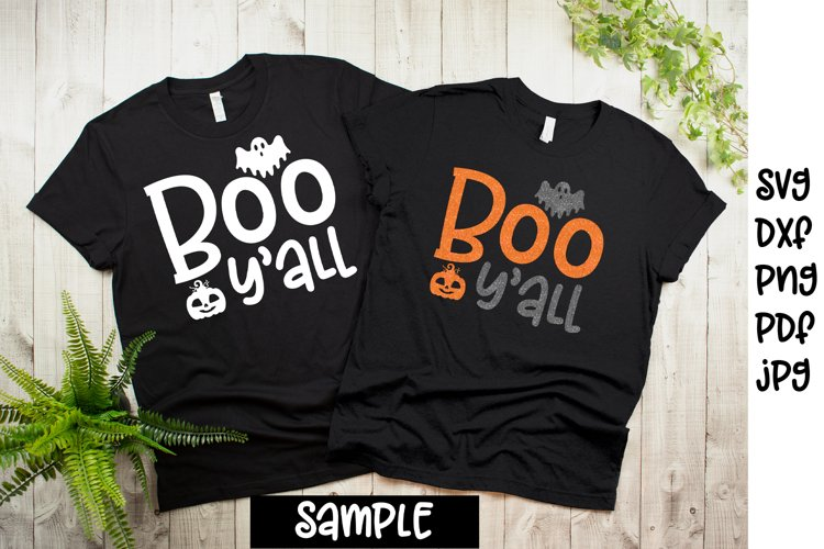 Boo yall svg, Halloween svg and print files