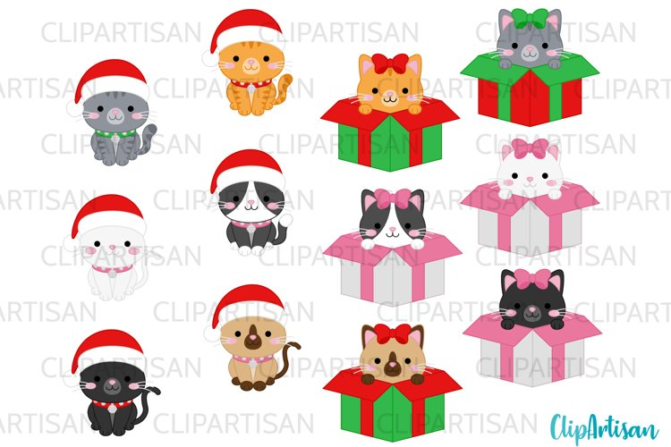 Christmas Cats Clipart Meowy Christmas kittens Kitty Cats example image 1