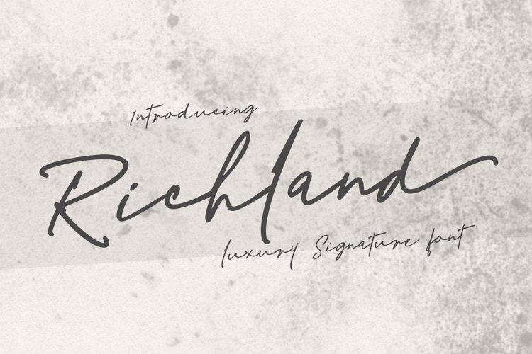 Richland | signature font example image 1