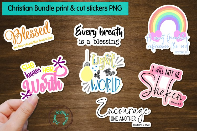 Christian Sayings Bundle Printable Stickers